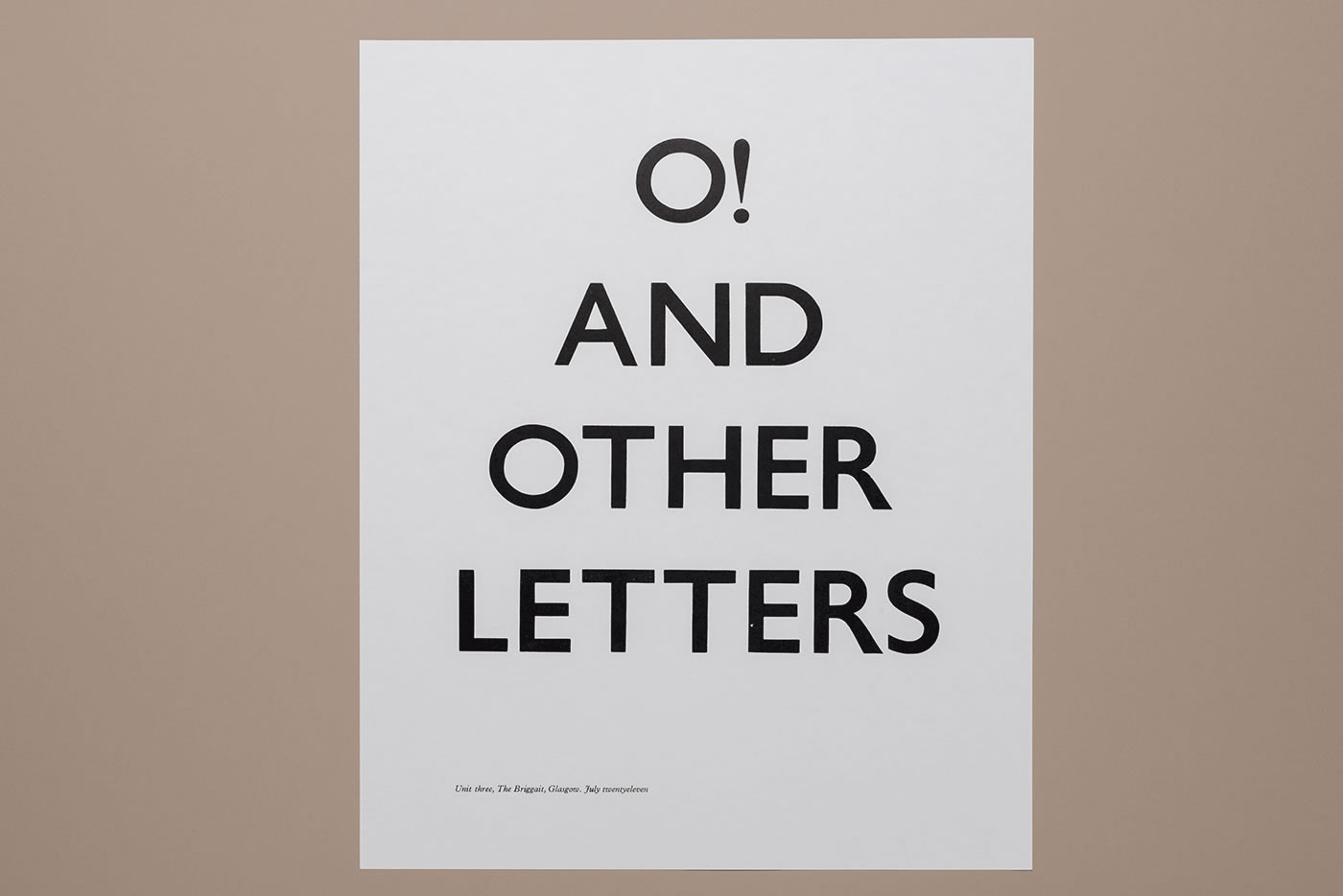 O! and other letters